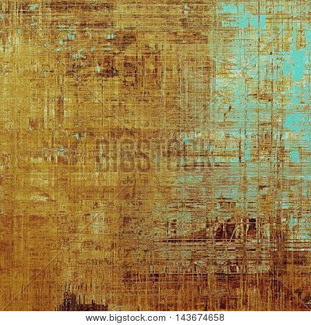 Abstract retro design composition. Stylish grunge background or texture with different color patterns: yellow (beige); brown; blue; cyan