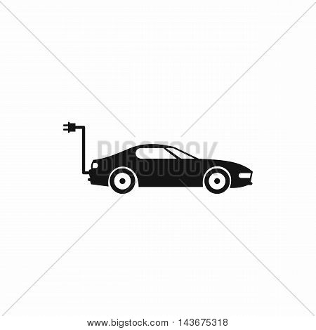 Electric car icon in simple style isolated on white background