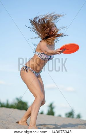 Girl With Frisbee