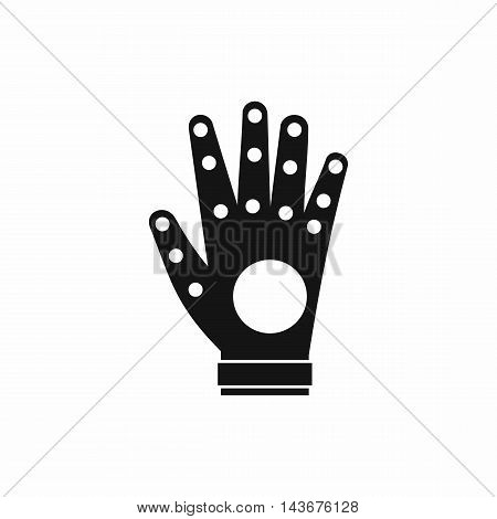 Electronic glove icon in simple style isolated on white background