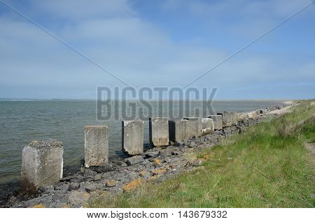 A view of old world war two coastal defences at Tentsmuir