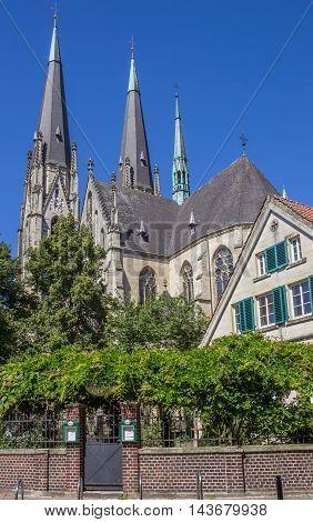 BILLERBECK, GERMANY - AUGUST 17, 2016: St. Ludgerus dom church in Billerbeck, Germany