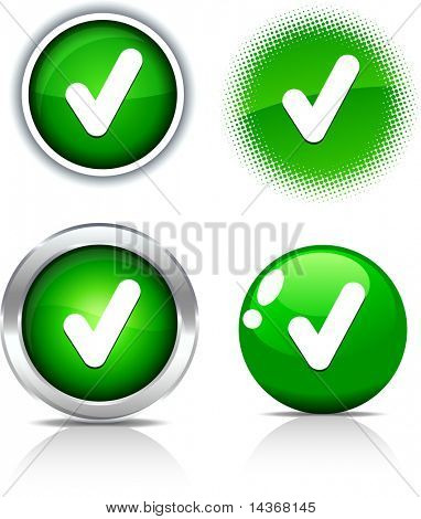 Check beautiful buttons. Vector illustration