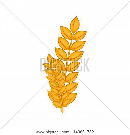 Wheat germ icon in cartoon style isolated on white background. Plant symbol
