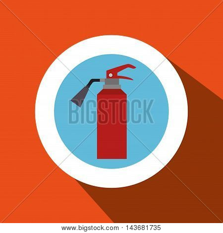 fire extinguisher protection icon vector illustration design