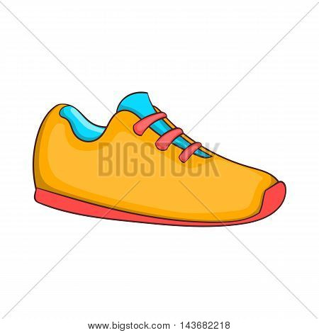 Sneakers icon in cartoon style isolated on white background. Shoes symbol