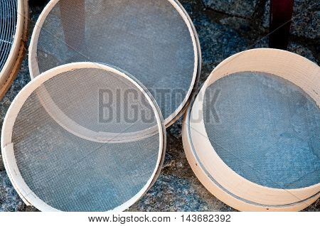 beautiful handmade sieves that are used to sift flour