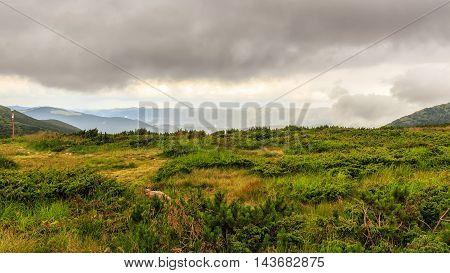 Picturesque Carpathian mountains landscape Chornogora ridge Ukraine