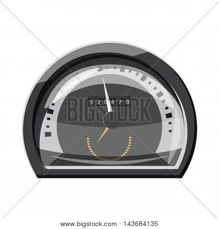 Grey speedometer for cars icon in cartoon style isolated on white background. Speed measurement symbol