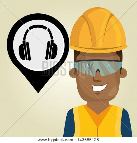 worker protection industrial vector illustration design eps 10