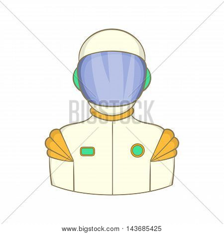 Astronaut icon in cartoon style isolated on white background. Space symbol