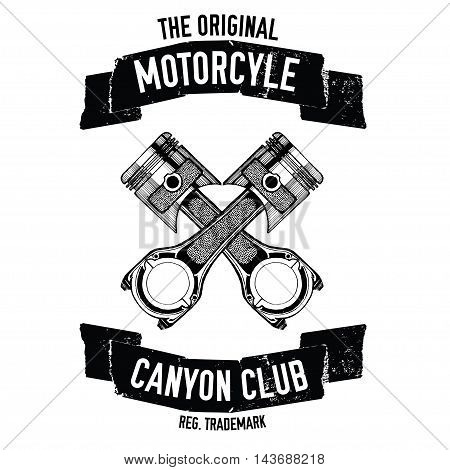 Hand drawn vector motorcycle quote for any kind of design