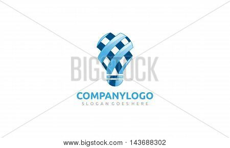 A blue bulb logo simple and creative suitable for any kind of business like education,IT,Tech,Startup,Art,and more