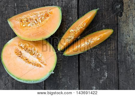 Topview Of Cantaloupe Melons