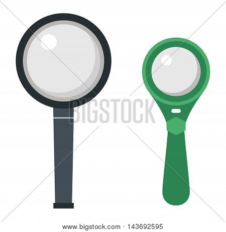 Optical magnifier loupe search icon symbol abstract vector illustration. Research interface business search instrument magnifier loupe icon. Research exploration sign magnifier loupe icon equipment.
