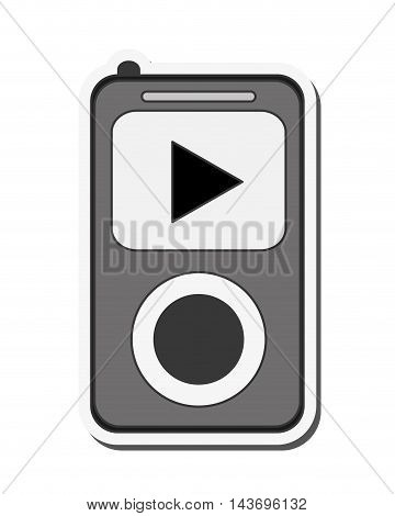 flat design mp3 music player icon vector illustration
