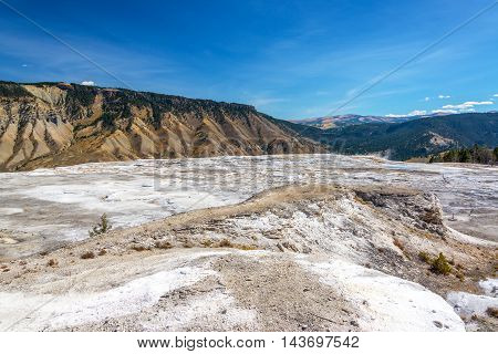 Barren Wasteland And Yellowstone