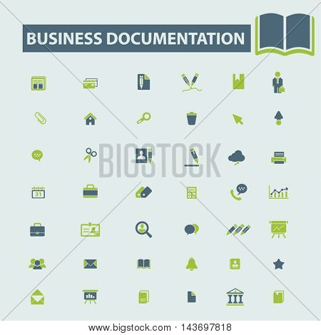 business documentation icons
