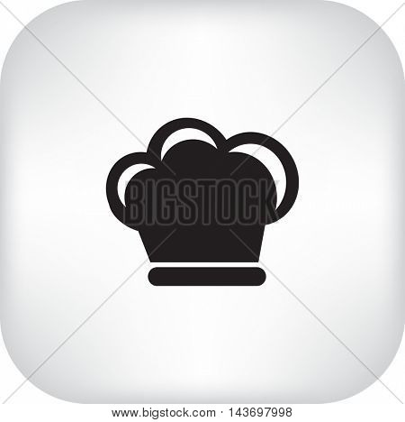 Flat icon. Hat cook.