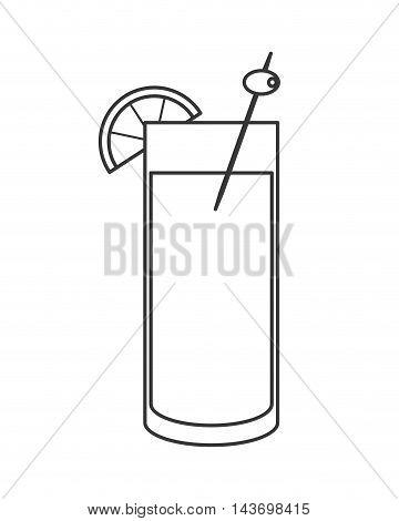 flat design single cocktail icon vector illustration