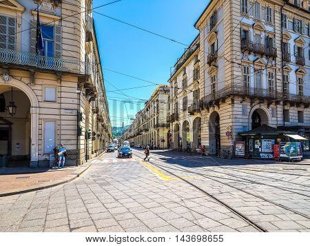 Via Po In Turin (hdr)