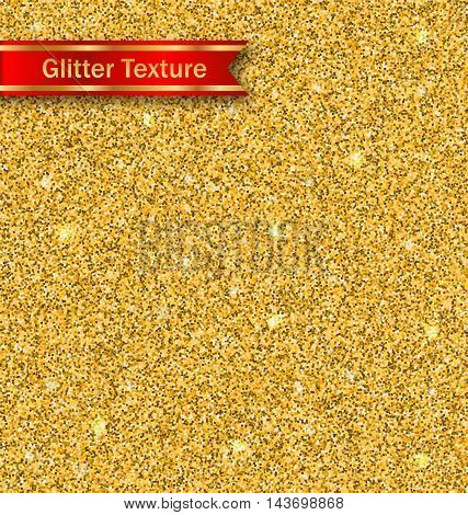 Illustration Glitter Seamless Pattern, Golden Luxury Wallpaper - Vector