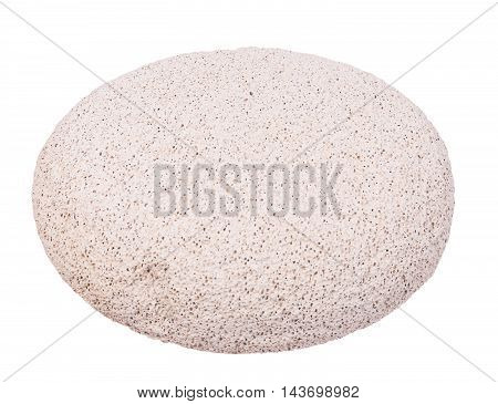 white pumice isolated on a the white background