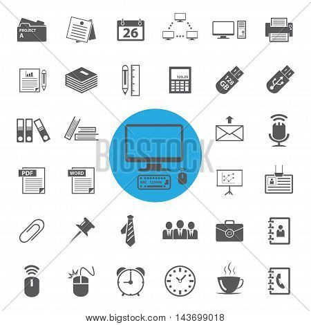 Electronics and gadgets sign and symbol icons set