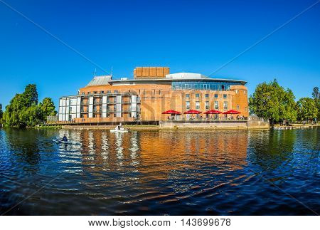 Royal Shakespeare Theatre In Stratford Upon Avon (hdr)