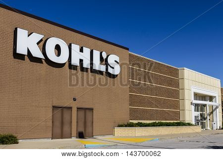 Indianapolis - Circa August 2016: Kohl's Retail Store Location. Kohl's operates over 1100 Discount Stores IV
