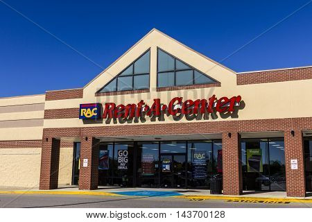 Indianapolis - Circa August 2016: Rent-A-Center Consumer Retail Location. RAC Provides Rent to Own Furniture and Electronics II