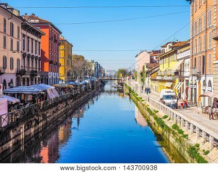 Naviglio Grande Milan (hdr)