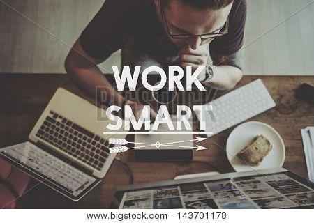 Online Business Work Office Art Concept