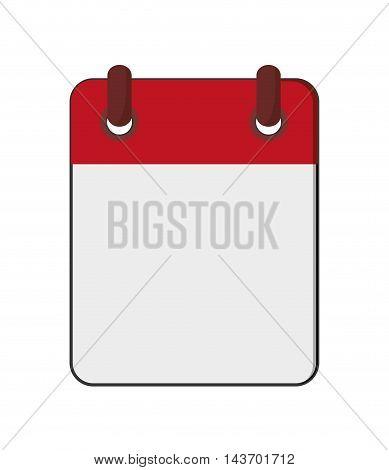 flat design blank notepad icon vector illustration