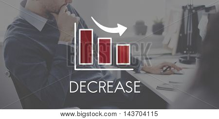 Recession Decrease Business Bar Chart Concept