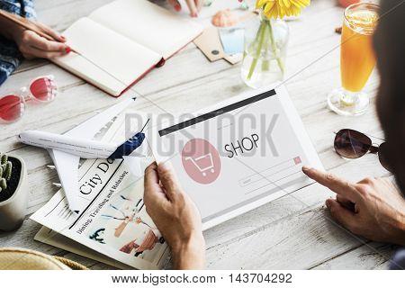 E-commerce Shop Online Homepage Sale Concept