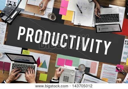 Productivity Effort Implementation Management Concept