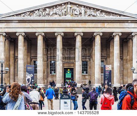 British Museum In London (hdr)