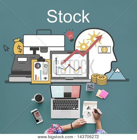 Stock Trading Accounting Finance Auditing Banking Concept