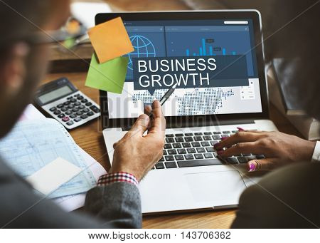 Global Business Data Analysis Growth Success Concept