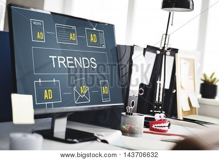 Trends Market Trends Planning Strategy Direction Business Concept