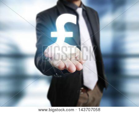 Money icon in hand, money concept