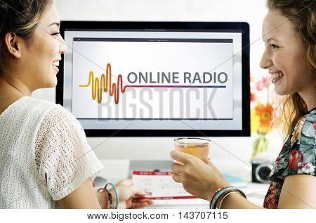 Online Music Multimedia Entertainment Sounds Concept