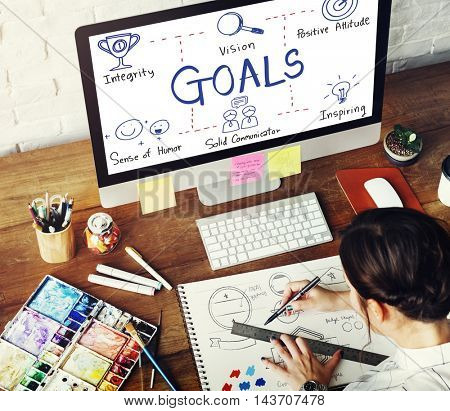 Goals Inspiration Success Target Concept