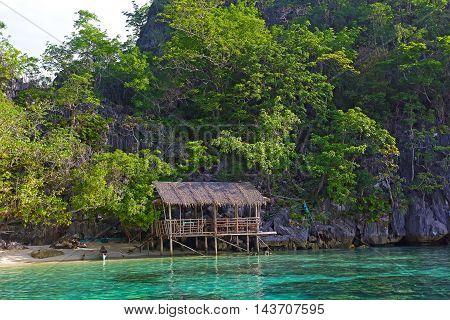 Tropical seashore. Coron Island Palawan province Philippines.
