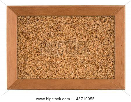 Blank Cork board with wooden frame (isolated)