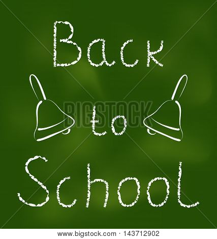 Illustration Back to school background with text and bells - vector