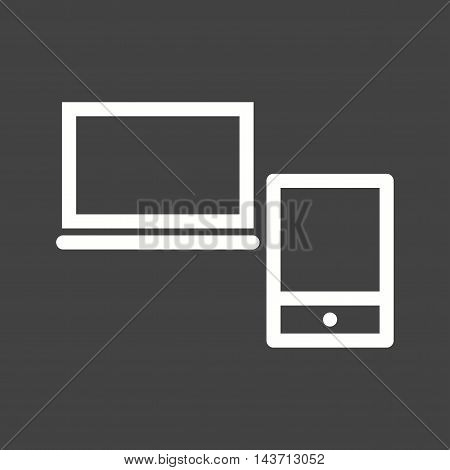 Web, devices, laptop icon vector image. Can also be used for web. Suitable for use on web apps, mobile apps and print media.