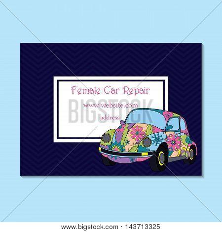 Business Card For Female Car Repair