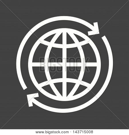 Globe, world, connection icon vector image. Can also be used for E Learning. Suitable for web apps, mobile apps and print media.
